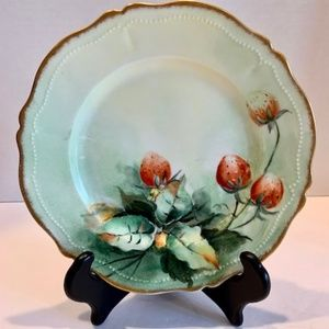 Other - Handpainted Royal O E & G Austria Plate Strawberry